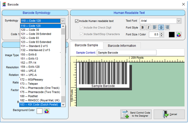 pcmrp barcode